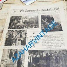 Militaria: EL CORREO DE ANDALUCIA, GUERRA CIVIL, 10-12-1936,SANTUARIO VIRGEN DE LA CABEZA,SEVILLA, ASTURIAS. Lote 279524963