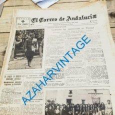 Militaria: EL CORREO DE ANDALUCIA, GUERRA CIVIL, 22-04-1937,ARACENA, CARMONA, ITURRIGORRI,TALLAMONTE. Lote 279525558