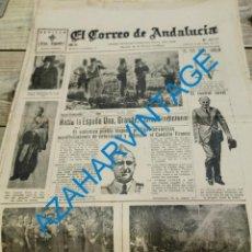 Militaria: EL CORREO DE ANDALUCIA, GUERRA CIVIL, 23-04-1937,FRENTE DE VIZCAYA, FRENTE DE LEON, PARTE DE GUERRA. Lote 279529653