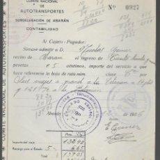 Militaria: ABARAN-MURCIA,- SELLADO-U.G.T.- Y COMITE DEFENSA DEL FRENTE POPULAR. AÑO 1936, VER FOTO. Lote 282491528