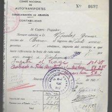 Militaria: ABARAN-MURCIA,- SELLADO-U.G.T.- Y COMITE DEFENSA DEL FRENTE POPULAR. AÑO 1936, VER FOTO. Lote 282491663