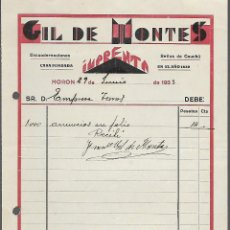 Militaria: MORON, IMPRENTA-GIL DE MONTES- AÑO 1933, VER FOTO. Lote 287210438