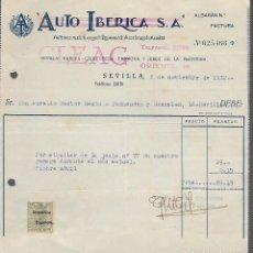 Militaria: SEVILLA, AUTO IBERICA. S.A. CON SELLO ESPECIAL MOVIL-REPUBLICA- VER FOTO. Lote 287210623