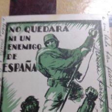 Militaria: TARJETA POSTAL DE GUERRA ERMITA DE BONASTRE (TERUEL)NO QUEDARÁ UN ENEMIGO DE ESPAÑA GUERRA CIVIL. Lote 287438813