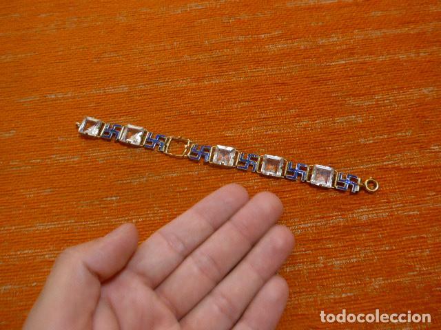 Militaria: Antiguo brazalete español con esvasticas y brillantes, Division azul, epoca II guerra mundial. - Foto 11 - 288654403