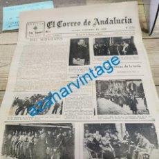 Militaria: EL CORREO DE ANDALUCIA,GUERRA CIVIL,03-06-1937 FRENTE DE VIZCAYA, AVIONES ROJOS DERRIBADOS, ETC. Lote 288962953