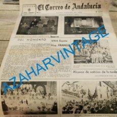 Militaria: EL CORREO DE ANDALUCIA,GUERRA CIVIL,02-06-1937 PARADAS, ALBACETE,ALMERIA,LERIDA, ETC. Lote 288963648