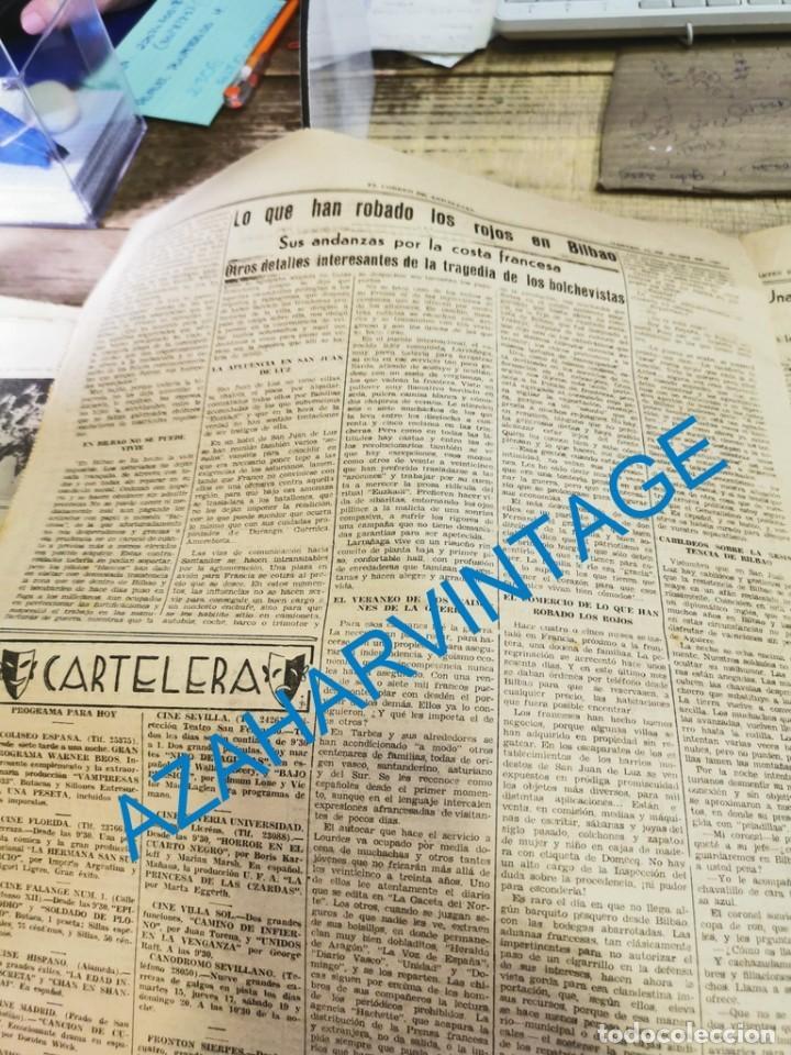 Militaria: EL CORREO DE ANDALUCIA,GUERRA CIVIL,15-06-1937 TOMA DE BILBAO, PLENCIA, LAS ARENAS, ETC - Foto 4 - 288964263