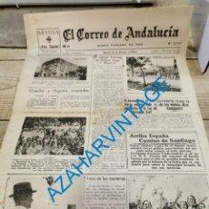 Militaria: EL CORREO DE ANDALUCIA,GUERRA CIVIL,17-06-1937 BILBAO, PEÑAFLOR, LEBRIJA,AZNALCAZAR, ETC. Lote 288965888
