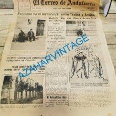 Militaria: EL CORREO DE ANDALUCIA,GUERRA CIVIL,27-10-1937 FRENTE DE ASTURIAS, HUELVA, SANLUCAR BARRAMEDA, ETC. Lote 288972418