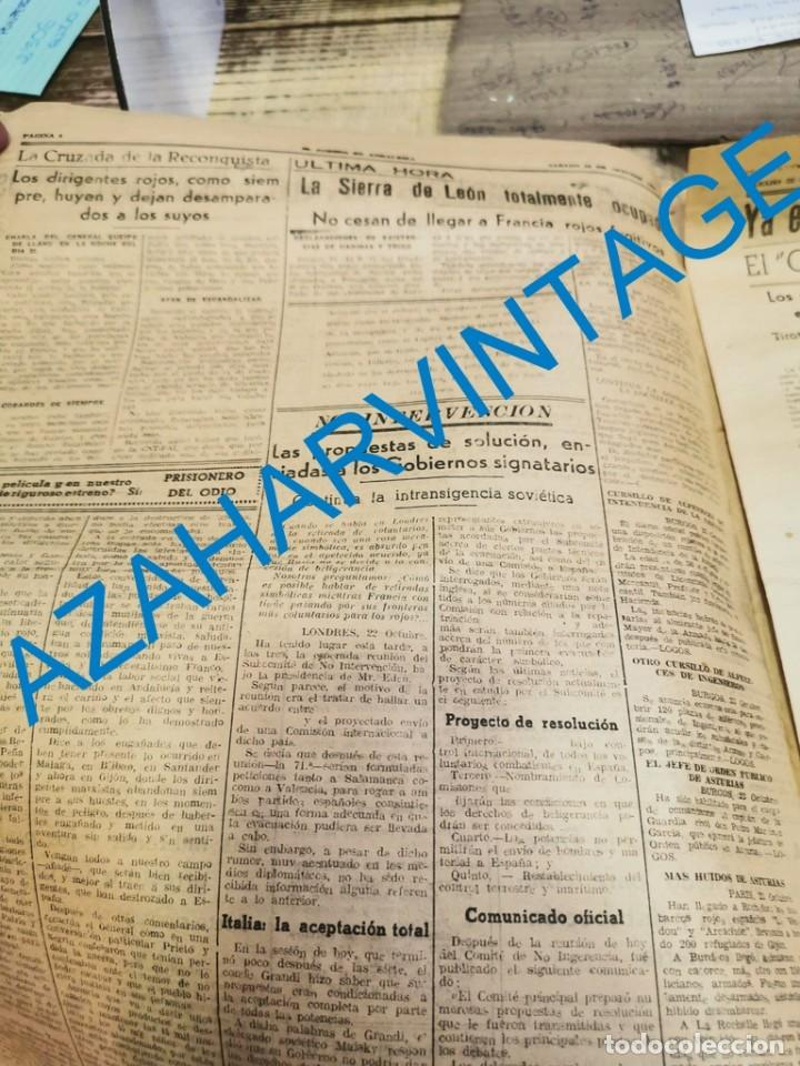 Militaria: EL CORREO DE ANDALUCIA,GUERRA CIVIL,23-10-1937 SABIÑANIGO,ASTURIAS, HUELVA, LEBRIJA, ETC - Foto 3 - 288979593