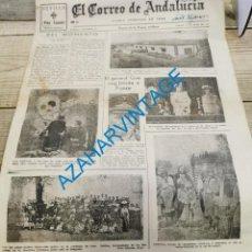 Militaria: EL CORREO DE ANDALUCIA,GUERRA CIVIL,26-06-1937 FRENTE DE VIZCAYA, LA PALMA DEL CONDADO, ETC. Lote 288982673