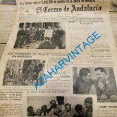 Militaria: EL CORREO DE ANDALUCIA,GUERRA CIVIL,11-02-1937 ALMONTE, LUCENA,MALAGA,CAÑAVERAL DE LEON, ETC. Lote 288983563