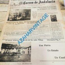 Militaria: EL CORREO DE ANDALUCIA,GUERRA CIVIL,12-02-1937 FRENTE JARAMA, SEVILLA BENDICION SAN BERNARDO, ETC. Lote 288987393