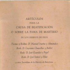 Militaria: 1936/59 LIBRO, 2 CARTAS: TESTIGO DEL ASESINATO Y LA DEL PROCESO RATIFICÁNDOLA C. CLAUSELLAS Y BALLVÉ. Lote 291908648