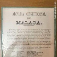 Militaria: MALAGA, CARTEL, ELECCIONES EXTRAORDINARIA- AÑO 1884, MIDE: 40 X 32 C.M. VER FO. Lote 294162173