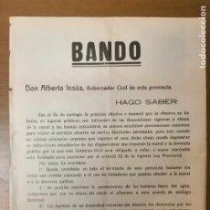 Militaria: MALAGA, CARTEL,PROHIBIDO BAÑARSE PRENDA ADECUADAS.- AÑO 1935, MIDE: 56 X 43 C.M. VER FOTOS. Lote 294171428