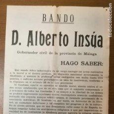 Militaria: MALAGA, CARTEL,SANCIONAR SEVERAMENTE LAS BLASFEMIAS.- AÑO 1935, MIDE: 48 X 34 C.M. VER FOTOS. Lote 294173088