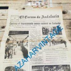 Militaria: EL CORREO DE ANDALUCIA, GUERRA CIVIL, 18-08-1937,ALCALA DE GUADAIRA,REINOSA,ARACENA.ETC... Lote 295517043