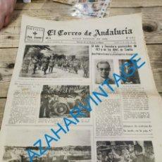 Militaria: EL CORREO DE ANDALUCIA, GUERRA CIVIL, 24-06-1937,ARACENA,VILLAVICIOSA,COLUNGA,CANGAS DE ONIS.ETC.. Lote 295518673