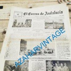 Militaria: EL CORREO DE ANDALUCIA, GUERRA CIVIL, 27-06-1937,VALMASEDA, SAN PEDRO DE GALDAMES,VIZCAYA.ETC.. Lote 295519873