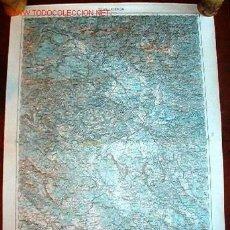 Militaria: MAPA MILITAR ALEMÁN DE LAIBACH, 1914.. Lote 13662089