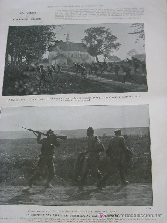 Militaria: L´ILLUSTRATION - 22 DICIEMBRE 1917 - PERIODICO FRANCES - 30 x 40 cm - REV. RUSA y I GUERRA - - Foto 3 - 20910751