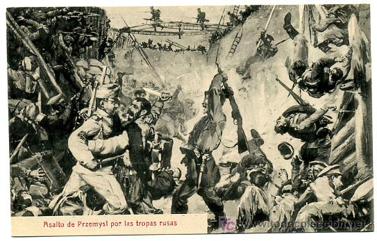 ILUSTRADA GUERRA 1914, ASALTO DE PRZEMYSL POR LAS TROPAS RUSAS, P18542 (Militar - I Guerra Mundial)