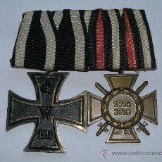 Militaria: PASADOR CRUZ DE HIERRO+CRUZ DE HONOR 1ª GUERRA MUNDIAL.. Lote 61073739