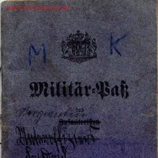 Militaria: ALEMANIA 1ª GUERRA MUNDIAL . MILITÄR PASS 1912. . Lote 2642958