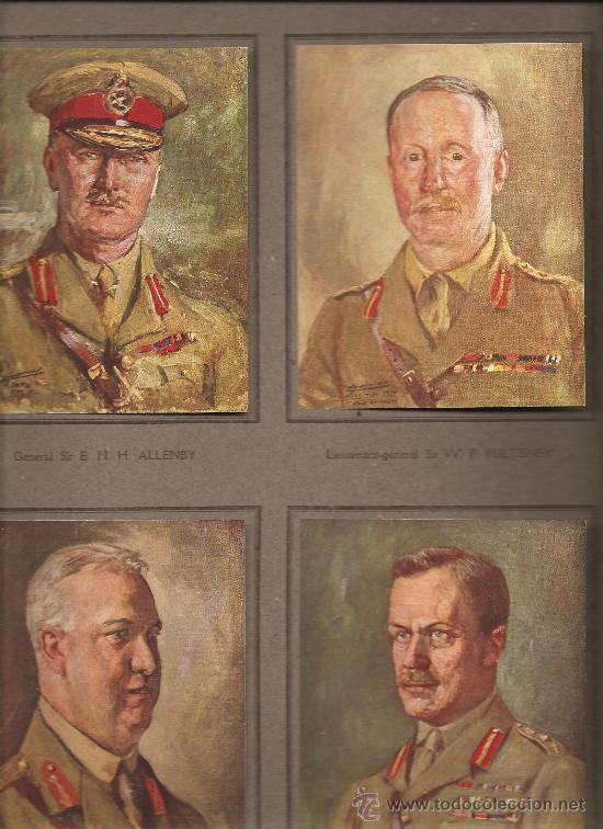 179. MILITARES BRITANICOS PRIMERA GUERRA MUNDIAL:ALLENBY.PULTENEY.CURRIE.BYNG (Militar - I Guerra Mundial)