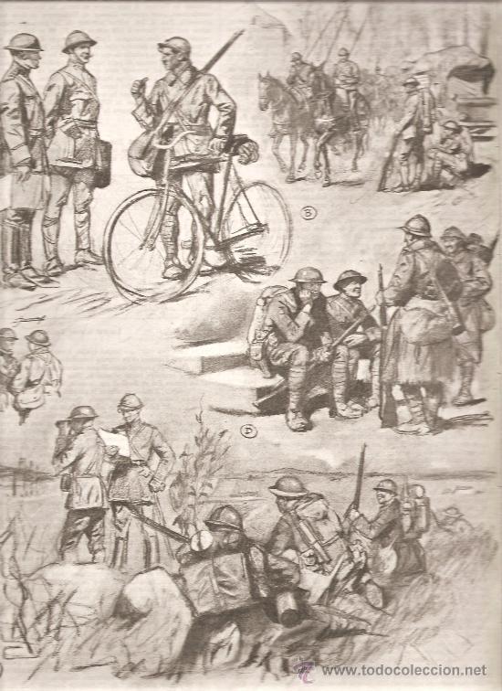 185. I GUERRA MUNDIAL: COLABORACION DE SOLDADOS FRANCESES Y AMERICANOS (Militar - I Guerra Mundial)