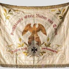 Militaria: NS/ ESTANDARTE DE LA ASOCIACIÓN DE SOLDADOS VETERANOS DE SICHERTSHAUSEN 1924 - 1928. Lote 26185201