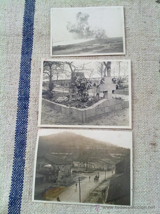 3 FOTOS ORIGINALES ALEMANAS I GUERRA MUNDIAL (Militar - I Guerra Mundial)