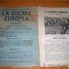 Militaria: COLECCIONABLE ILUSTRADO DE LA PRIMERA GUERRA EUROPEA Nº 80 EDITADO EN BARCELONA 26 SEPTIEMBRE 1915. Lote 18531867