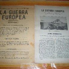 Militaria: PRIMERA GUERRA EUROPEA Nº 139 BARCELONA 4 DICIEMBRE 1916, RUSIA Y LA INDEPENDENCIA DE POLONIA. Lote 20860631
