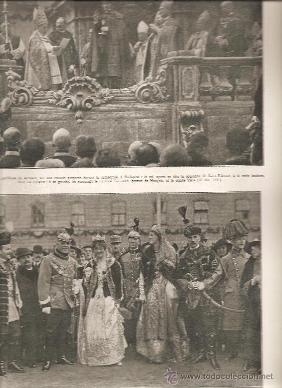 177. I GUERRA MUNDIAL: CORONACION DEL REY CARLOS IV DE HUNGRIA (Militar - I Guerra Mundial)