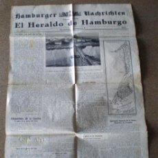 Militaria: PERIÓDICO – DIARIO .. EL HERALDICO DE HAMBURGO .. 8/SETIEMBRE/1915. Lote 17798721
