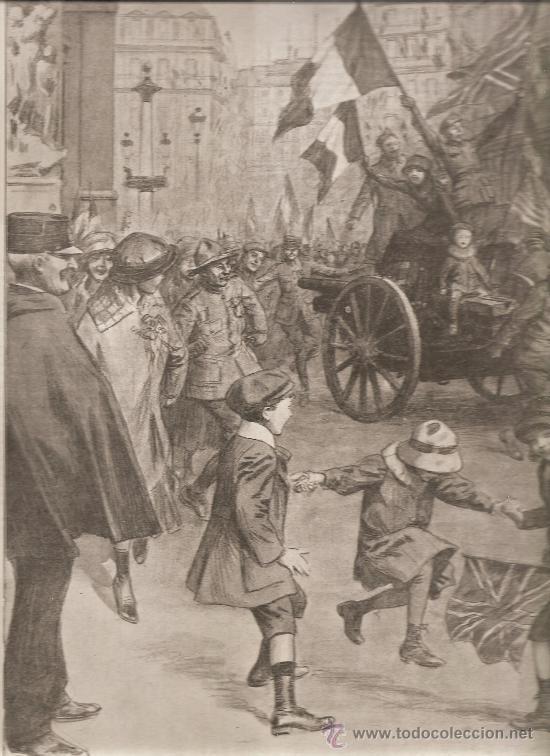 374. I GUERRA MUNDIAL: FIESTA EN PARIS AL FINALIZAR LA GUERRA (Militar - I Guerra Mundial)