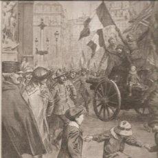 Militaria: 374. I GUERRA MUNDIAL: FIESTA EN PARIS AL FINALIZAR LA GUERRA. Lote 17963596