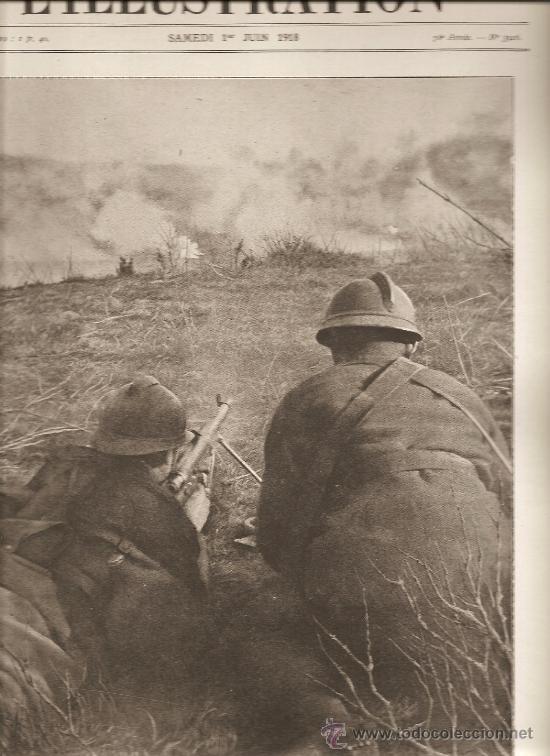 386. I GUERRA MUNDIAL: FUSILEROS AMETRALLADORES EN LOS COMBATES (Militar - I Guerra Mundial)
