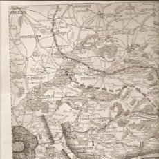 Militaria: 133. (L,ILLUSTRATION 11-9-1915) MAPA DE LA BATALLA DEL MARNE. Lote 23145745