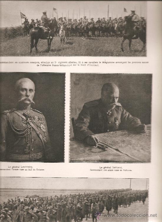 415. FRENTE RUSO: GENERALES RUSOS Y PRISIONEROS AUSTRIACOS (Militar - I Guerra Mundial)