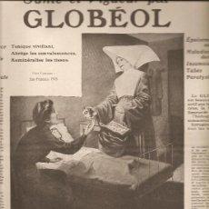Militaria: 151. ANUNCIO PRIMERA GUERRA MUNDIAL: GLOBEOL (MEDICAMENTO). Lote 23406571
