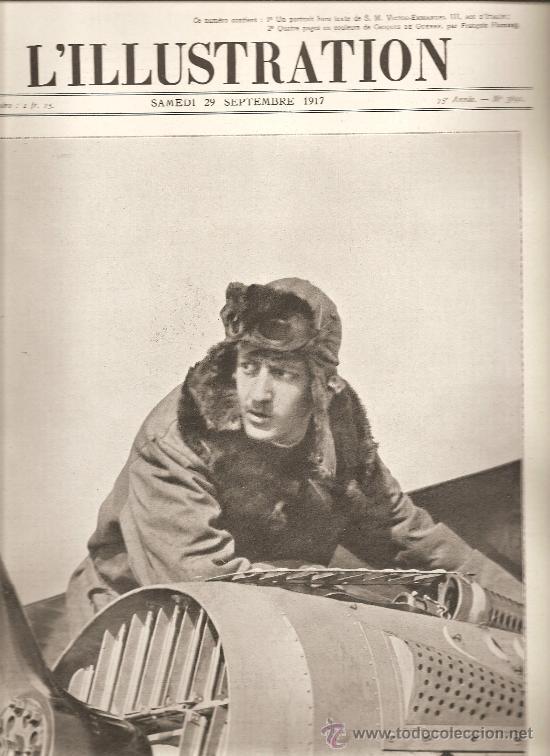 96. ULTIMA FOTOGRAFIA DEL HEROE DE LA AVIACION FRANCESA: GUYNEMER (Militar - I Guerra Mundial)