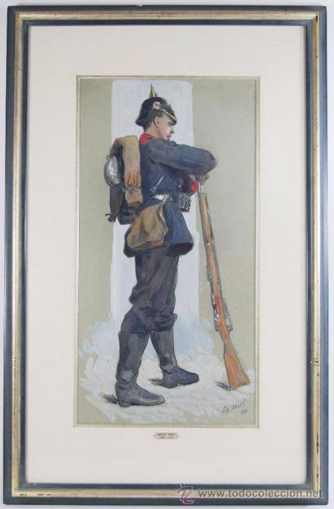 AUTORRETRATO DE 1901 DE GEORG WOLF (Militar - I Guerra Mundial)
