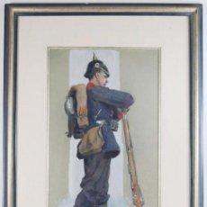 Militaria: AUTORRETRATO DE 1901 DE GEORG WOLF. Lote 27026077