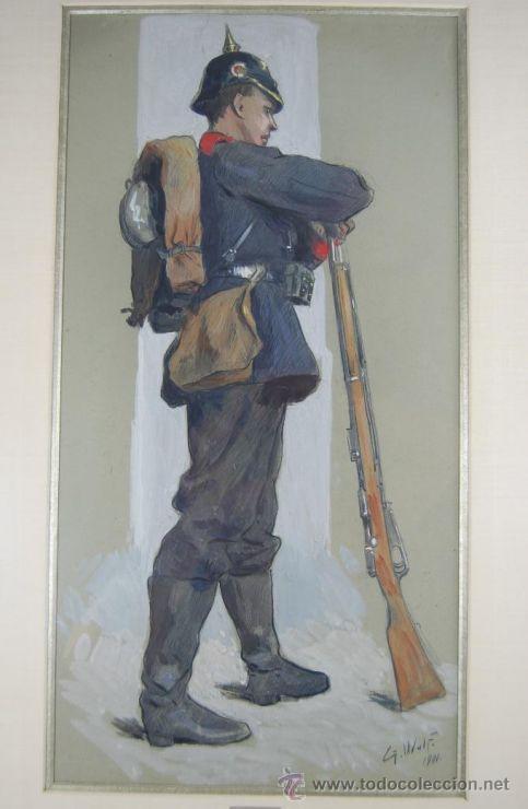 Militaria: Autorretrato de 1901 de Georg Wolf - Foto 8 - 27026077