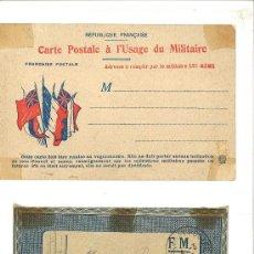 Militaria: DOS CORREOS MILITARES FRANCESES. 1917 Y 1916. Lote 38322668