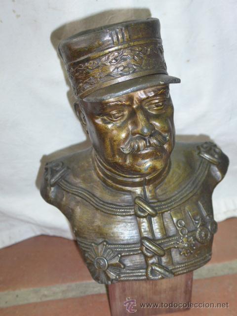 Militaria: Antiguo y gran busto d bronce de Mariscal Joffre, voluntarios catalanes en la Primera guerra mundial - Foto 2 - 40612548